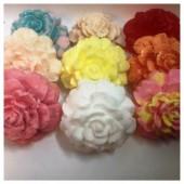 3 цветка. Разный цвет. Мыло ручной работы. 120 гр