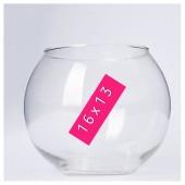 Стеклянная ваза. Шар 16 х 13 см