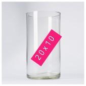 Стеклянная ваза. Цилиндр 20 х 10 см
