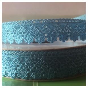 Е-404. 20 м. Голубой цвет. Тесьма кружевная. Зигзаг 1.8 см