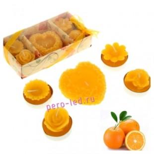 1 набор. Свечи подарочные. Апельсин.