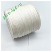 Белый цвет. Нейлоновый шнур/нить из полеэстера 0.8 мм. Для бисера, макраме, плетения. 100м/кат