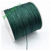 Зеленый цвет. Нейлоновый шнур/нить из полеэстера 0.8 мм. Для бисера, макраме, плетения. 100м/кат