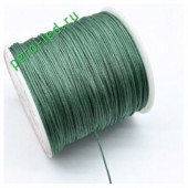 Болотный цвет. Нейлоновый шнур/нить из полеэстера 0.8 мм. Для бисера, макраме, плетения. 100м/кат