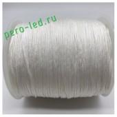 Белый цвет. Вощенный хлопковый шнур для рукоделия