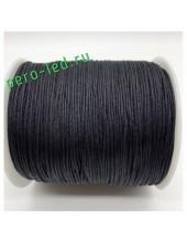Черный цвет. Вощенный хлопковый шнур для рукоделия