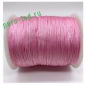 Розовый цвет. Вощенный хлопковый шнур для рукоделия