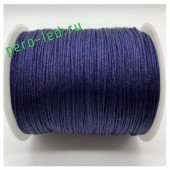 Фиолетовый цвет. Вощенный хлопковый шнур для рукоделия