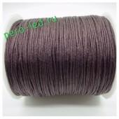 Коричневый цвет. Вощенный хлопковый шнур для рукоделия