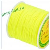 Лимонный цвет. Капроновая нить для рукоделия и плетения 100м/кат