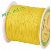 Желтый цвет. Капроновая нить для рукоделия и плетения 100м/кат