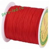 Красный цвет. Капроновая нить для рукоделия и плетения 100м/кат