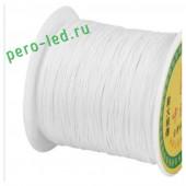 Белый цвет. Капроновая нить для рукоделия и плетения 100м/кат