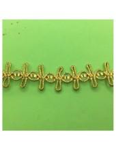 1 м. Золото цвет. Тесьма отделочная. Вьюнчик. № 85