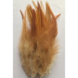 20 шт. Светло-рыжий цвет. Перья петуха 11-15 см. 2-х цветное