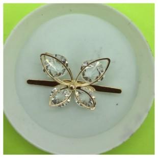 У-16. Золотой цвет. Брошка бабочка.
