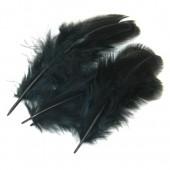20 шт. Черный цвет. Фазан цветное перо 4-7 см.