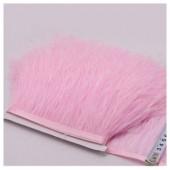 1 м. Розовый цвет. Тесьма из перьев страуса 10- 15 см