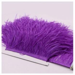 1 м. Фиолетовый цвет. Тесьма из перьев страуса 10- 15 см