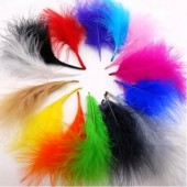 20 шт.  Микс цвет. Перья боа марабу 8-12 см.