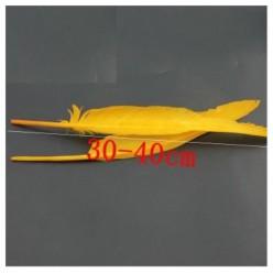 1 шт. Ярко-желтый цвет.  Гусиное перо 30-40 см.
