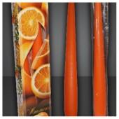 2 шт. Апельсин.  Свеча ароматическая 2 см X 2 см X 25 см
