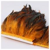 1 м. 2-х цветное. Оранжевый цвет. Тесьма. Перья петуха на ленте 14-19 см.