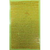 1 шт. Желтый цвет. Наклейки со стразами 3 мм. 8 х 13 см.