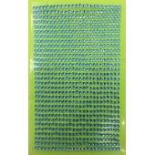 1 шт. Голубой цвет.  Наклейки со стразами 3 мм. 8 х 13 см.