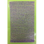 1 шт. Фиолетовый цвет.  Наклейки со стразами 3 мм. 8 х 13 см.