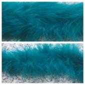 Морская волна цвет. Боа тесьма из пуха марабу 6-8 см