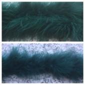 Нефрит цвет. Боа тесьма из пуха марабу 6-8 см