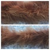 Коричневый цвет. Боа тесьма из пуха марабу 6-8 см
