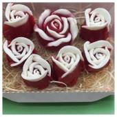 Розы мыло в коробочках. Ручная работа