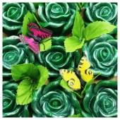 9 Роз в подарочной коробочке. Нефрит цвет.
