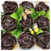 9 Роз в подарочной коробочке. Шоколад цвет.