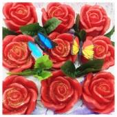 9 Роз в подарочной коробочке. Красный цвет.