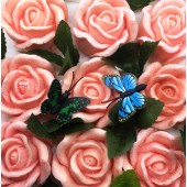9 Роз в подарочной коробочке. Розовый цвет.