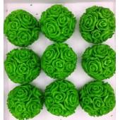 Розы шар в подарочной коробочке. Зеленый цвет.