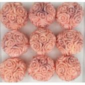 Розы шар в подарочной коробочке. Розовый цвет.