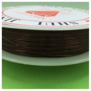 0.3 мм. 50 м. Темно-коричневый цвет. Проволочка для рукоделия