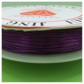 0.3 мм. 50 м. Фиолетовый цвет. Проволочка для рукоделия