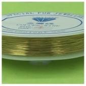 0.4 мм. 40 м. Золото цвет. Проволочка для рукоделия