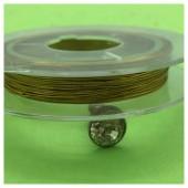 0.3 мм.10 м. Золото цвет. Проволочка для рукоделия