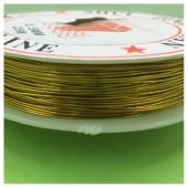 0.5 мм.25 м. Золото цвет. Проволочка для рукоделия