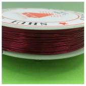 0.5 мм. 25 м. Красный цвет. Проволочка для рукоделия
