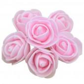 Розовый цвет. Искусственные поролоновые головки роз. Цветок 3 см  10 шт  #1919