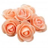 Бежевый цвет. Искусственные поролоновые головки роз. Цветок 3 см  10 шт  #1919