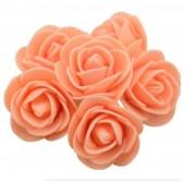 Оранжевый цвет. Искусственные поролоновые головки роз. Цветок 3 см  10 шт  #1919