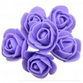 Фиолетовый цвет. Искусственные поролоновые головки роз. Цветок 3 см  10 шт  #1919